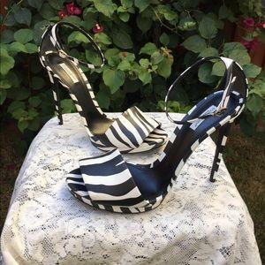 Dolce & Gabbana Zebra Print High Heel